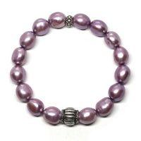 Purple and silver bracelet