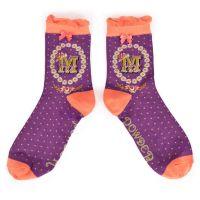 Alphabet socks - M to P