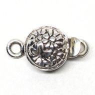Tiny sterling daisy clasp