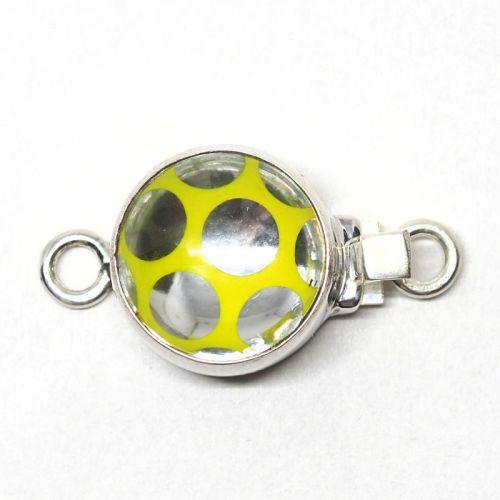 Electric yellow Swarovski polka dot clasp