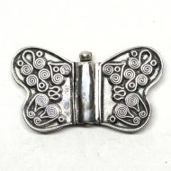 Round wing butterfly clasp