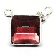 German rose glass pendant clasp