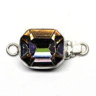 Emerald-cut crystal clasp
