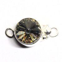Round Swarovski black diamond clasp