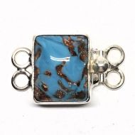 Murano turquoise and gold bracelet clasp