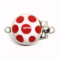 Red polka dot clasp