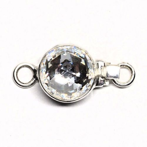 Tiny faceted crystal clasp