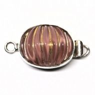 Pink fluted glass clasp