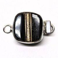 Black and gold tailored clasp