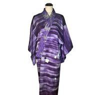 Purple stripe kimono