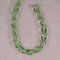 Light green four-sided diamond beads