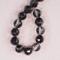 12 mm by 13 mm round faceted glass beads