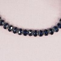 Two-tone sapphire Czech crystal beads