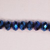 10 mm by 12 mm midnight blue faceted rondelles