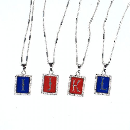 Initial pendant necklace - I to L