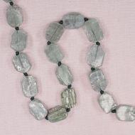 12 mm to 14 mm by 18 mm irregular octagonal green kyanite beads