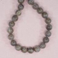 10 mm round labradorite beads
