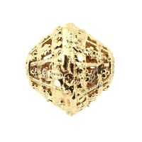 15 mm gold-plate filigree bead