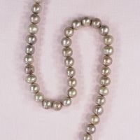 8 mm round light taupe pearls