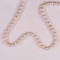 6 mm pink oval pearls