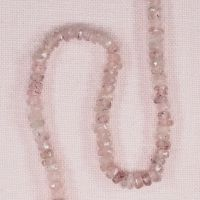 3 mm rose quartz faceted rondelle beads