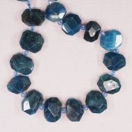 Flat apatite faceted chunks
