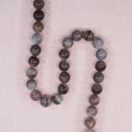 10 mm round Botswana agate beads