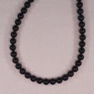8 mm round black onyx beads