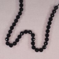 8 mm faceted round black onyx beads