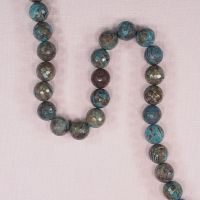 12 mm round faceted striped agate beads