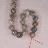 14 mm round marbled agate beads