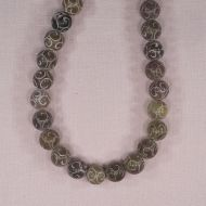 12 mm round carved stone beads