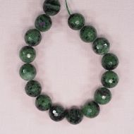 14 mm round faceted zoisite beads